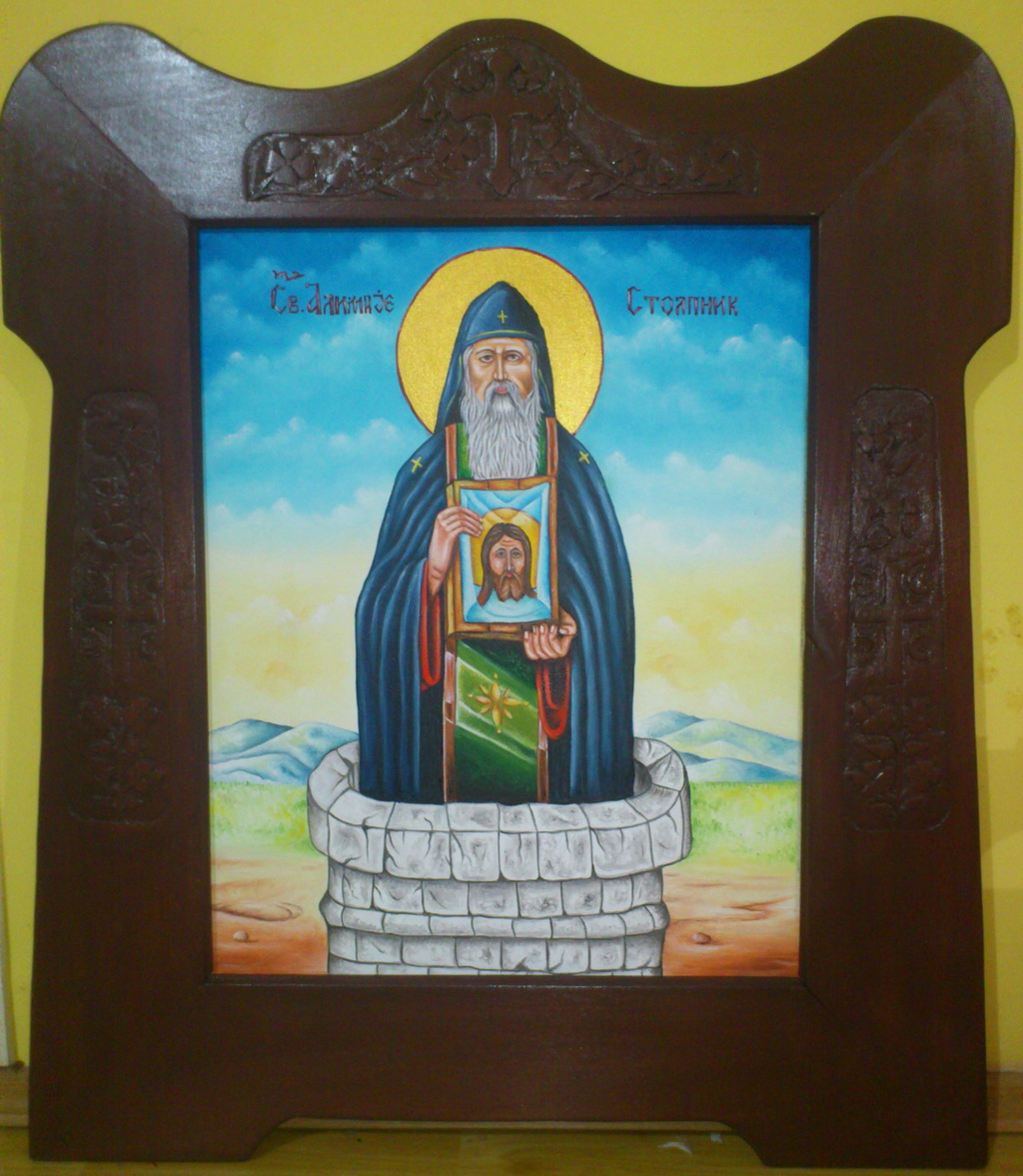 Sveti Alimpije Stolpnik - ulje na platnu - 40x50