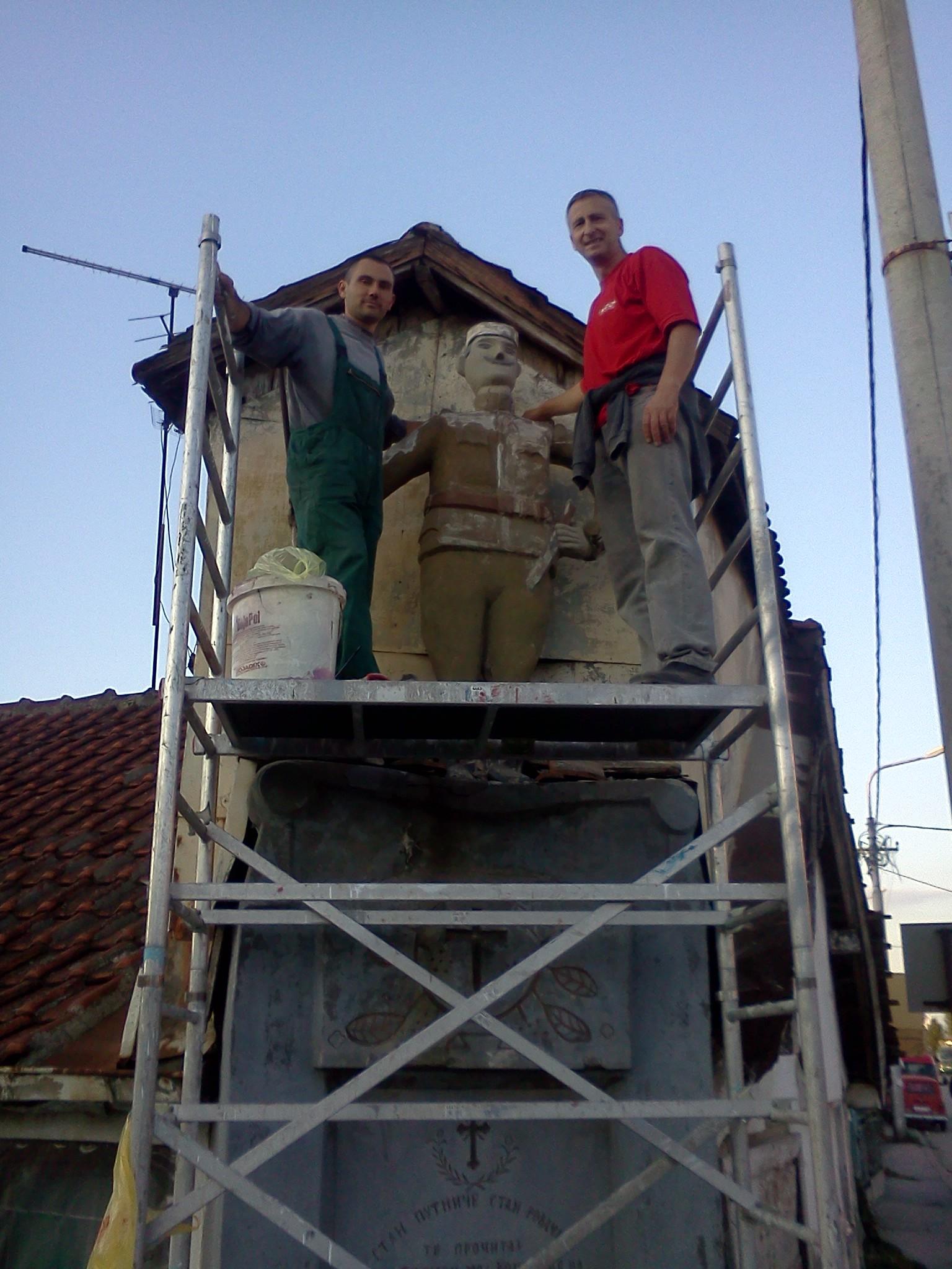 Početak reparacije spomenika krajputaša