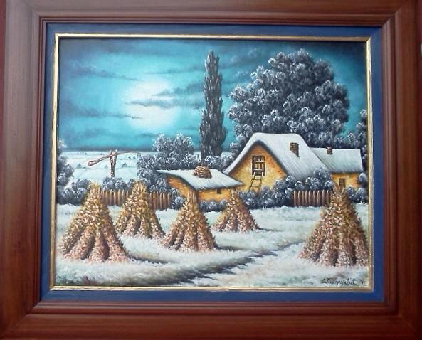 Zimska idila - ulje na platnu
