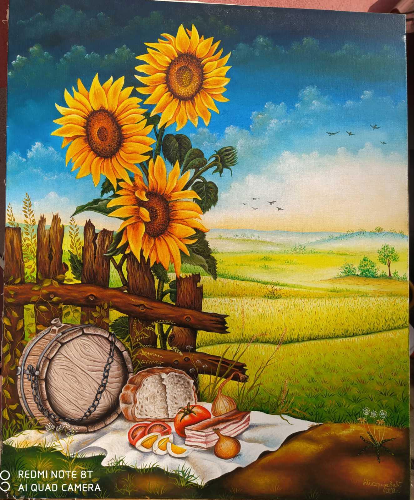 Doručak u polju, 80x65