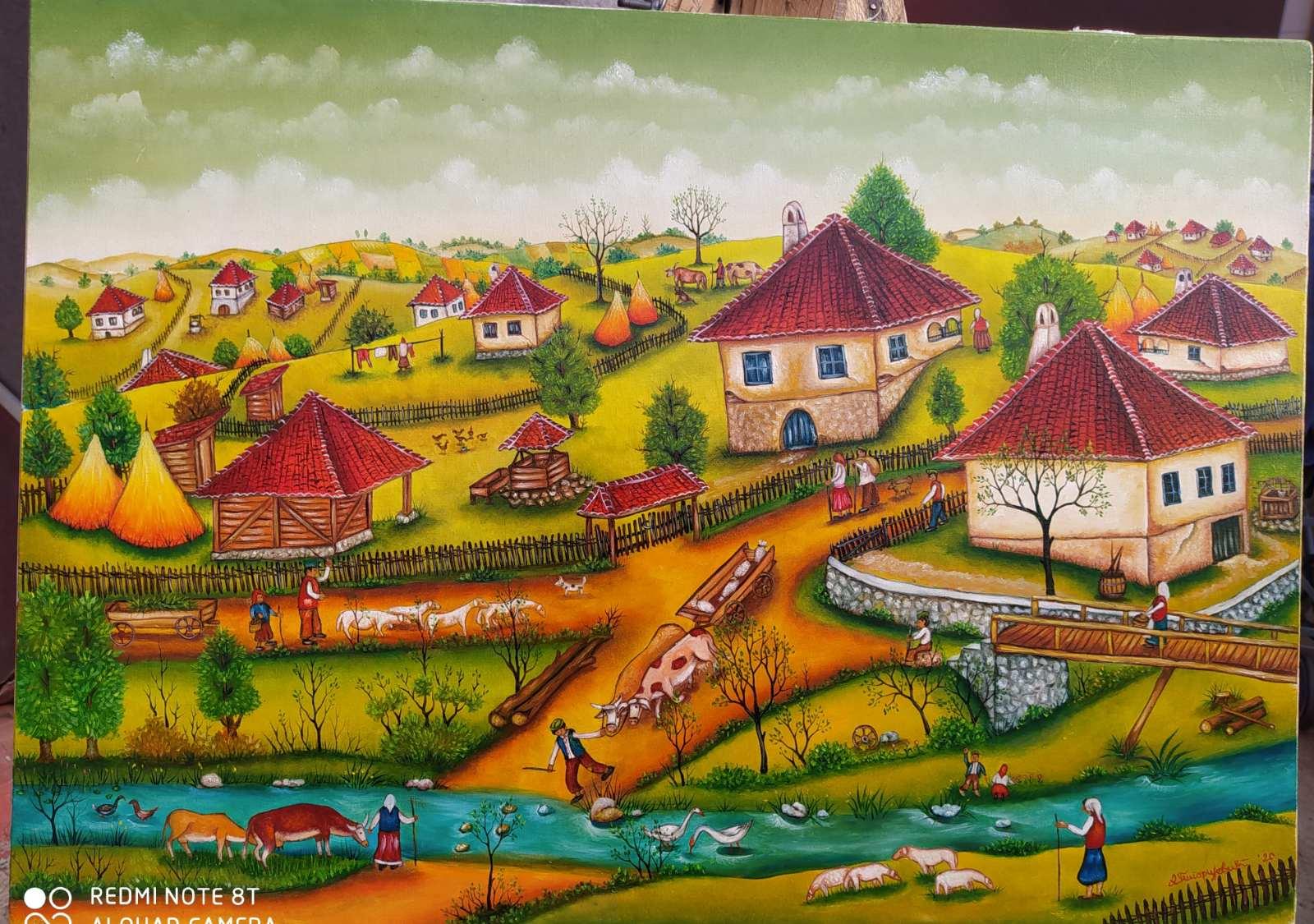 Moje selo, 70x50, 220 evra