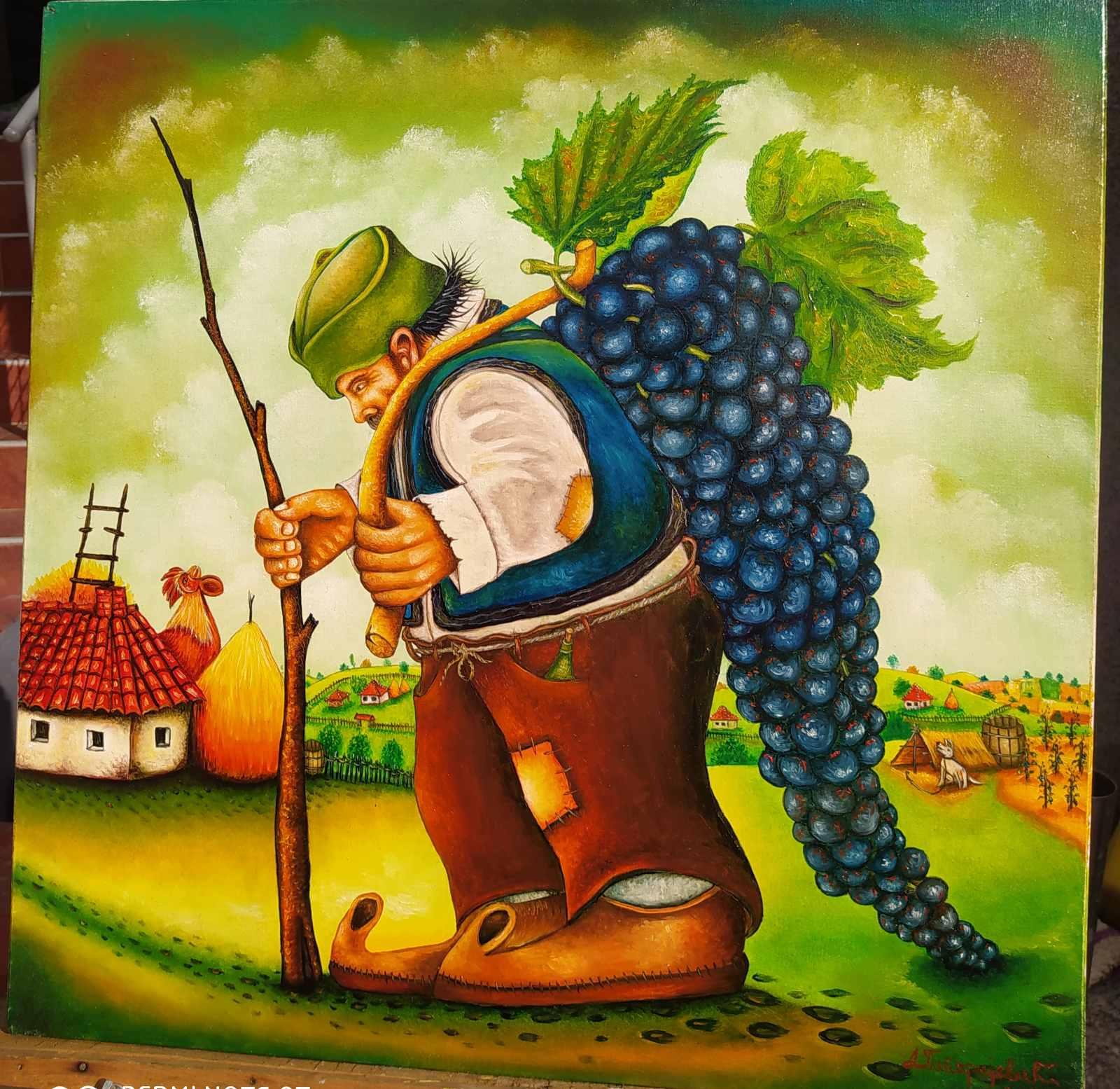 Vinogradar, 50x40, 150 evra